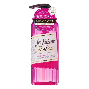 Dầu Gội Dành Cho Tóc Xoăn Tự Nhiên Kosé Cosmeport Je L'aime Relax Shampoo Straight & Sleek 500ml