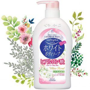 Sữa Tắm Trắng Sáng Da Hương Hoa Kosé Cosmeport Softymo White Body Soap Hb (White Floral) 600ml